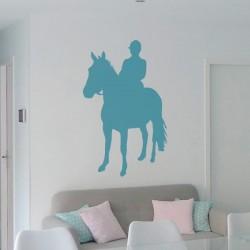 Sticker homme à cheval