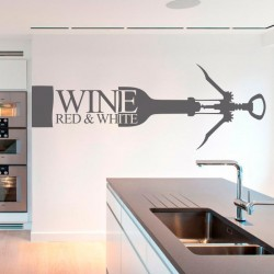 Autocollant bouteille de vin