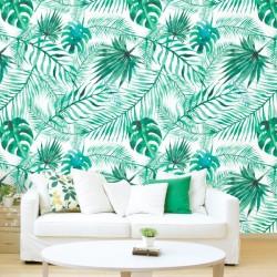 Papier peint texture tropicale