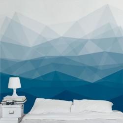 Déco murale motif bleu