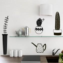 Sticker vases avec cactus