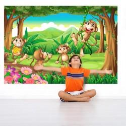 Adhésif mural singes dans...