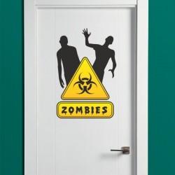 Adhésif déco avec zombies