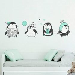 Sticker enfant les pingouins