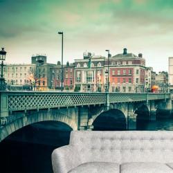 Papier peint ville de Dublin