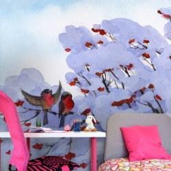 Déco murale oiseaux dans la...