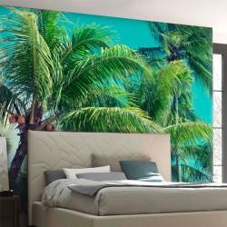 Déco murale palmiers
