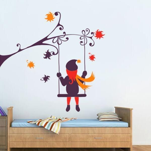 Sticker enfant swing et fille
