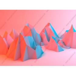 Papier peint collines 3D
