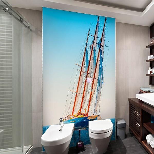 Déco murale bateau à voile