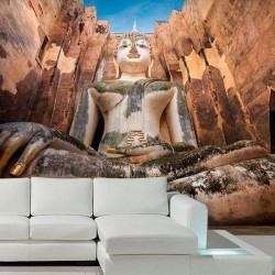 Adhésif statue de Bouddha