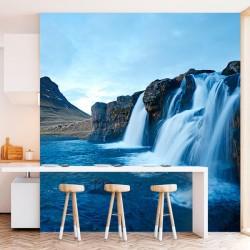 Déco murale avec cascade