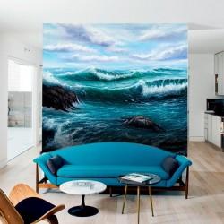 Déco murale mer d'aquarelle