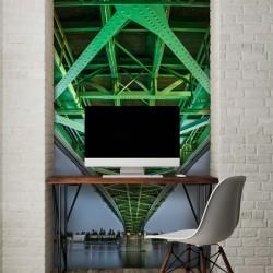 Déco murale pont vert