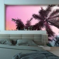 Adhésif mural palmiers