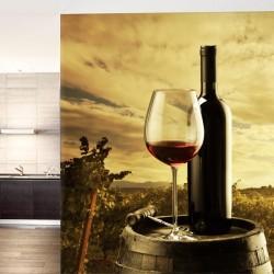 Déco murale verre à vin