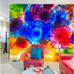 Revêtement mural fleurs