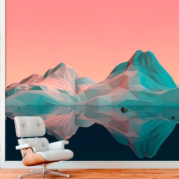 Poster mural montagne 3D