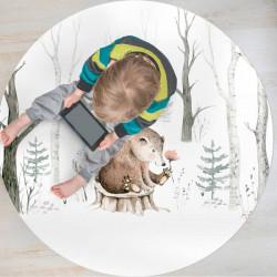 Tapis Vinyle Ours sur Tronc pour enfants
