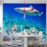 Papier peint  requin
