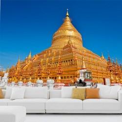 Papier peint pagode Shwedagon