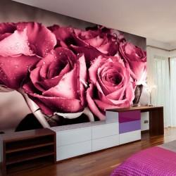 Papier peint bouquet de roses