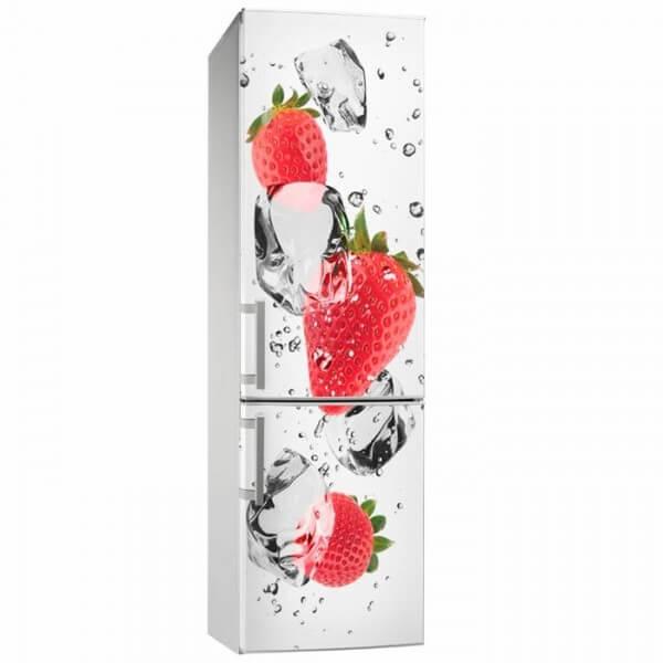 Sticker déco fraises 2