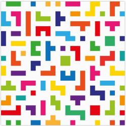 Tapis Vinyle Motif Abstrait Coloré