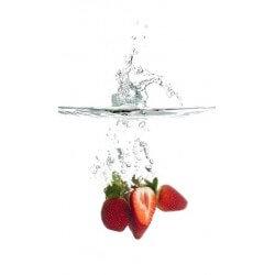 Sticker fraises dans l'eau