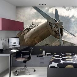 Déco murale avion antique