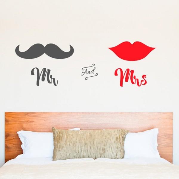 Sticker décoratif mr and mrs