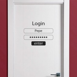 Sticker pour portes login