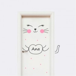Sticker pour portes chaton