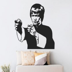 Sticker déco Bruce Lee