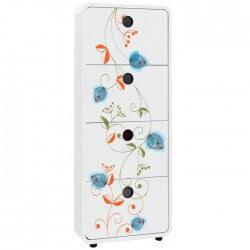 Sticker meubles fleurs 33