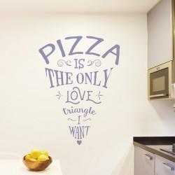 Sticker pizza love triangle