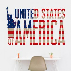 Autocollant mural America