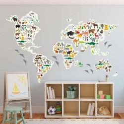 Sticker carte du monde avec...