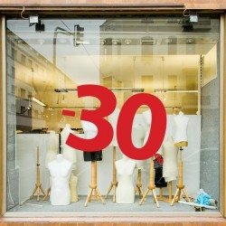 Sticker vitrine numéro 30
