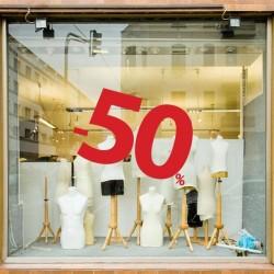 Décoration vitrine numéro 50