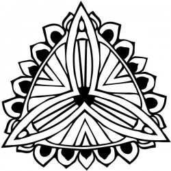 Autocollant mandala fleur