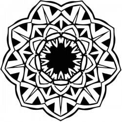 Adhésif mandala fleur de lotus