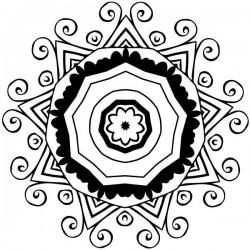 Sticker mandala ornemental