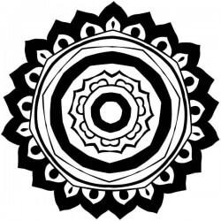 Sticker mandala de fleurs