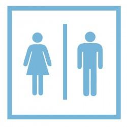Adhésif pour portes WC
