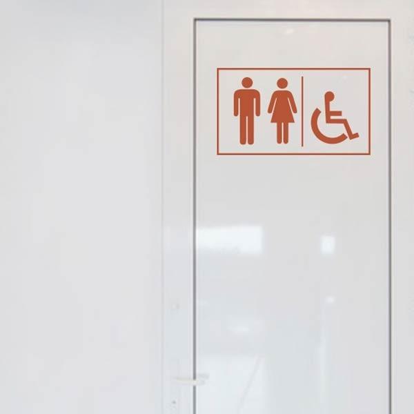 Adhésif pour porte WC