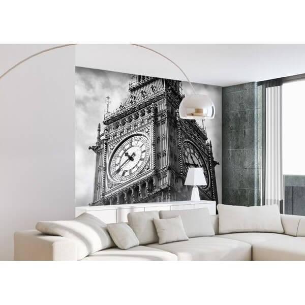 Photo Murale Big Ben Noir et Blanc