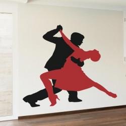 Sticker silhouettes tango