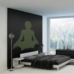 Sticker silhouette yoga