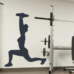 Sticker silhouette gym
